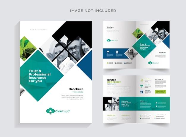 Brochure bifold della compagnia di assicurazioni