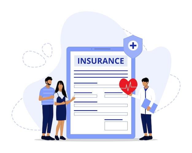 Illustrazione del concetto di assicurazione