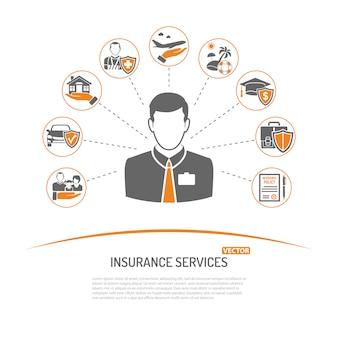 Concetto di servizi assicurativi