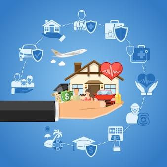 Concetto di servizi assicurativi Vettore Premium