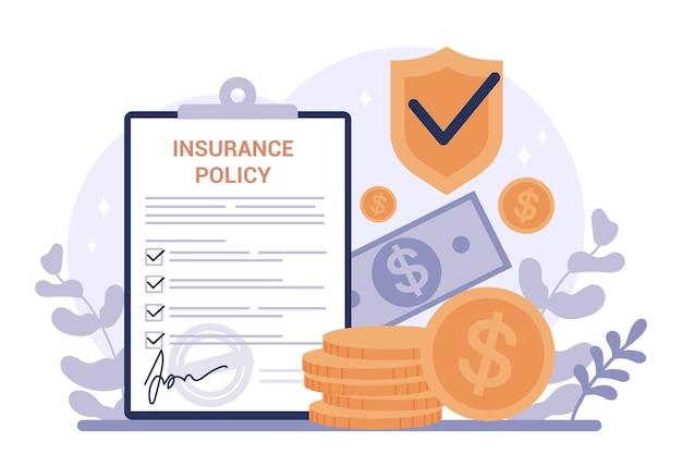 Banner web di assicurazione. idea di sicurezza e protezione della proprietà e della vita dai danni. sicurezza in viaggio e lavoro.