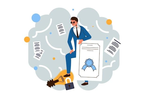 Illustrazione di concetto di proprietà intellettuale
