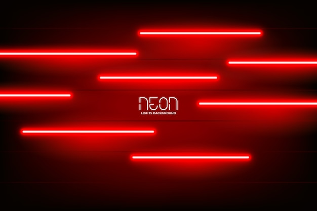 Intenso sfondo di luci al neon