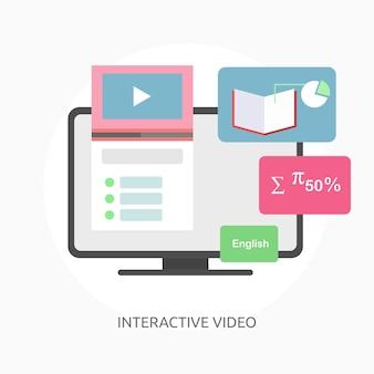 Bandiera concettuale interattiva del video