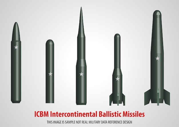 Missile balistico intercontinentale (icbm) 3d