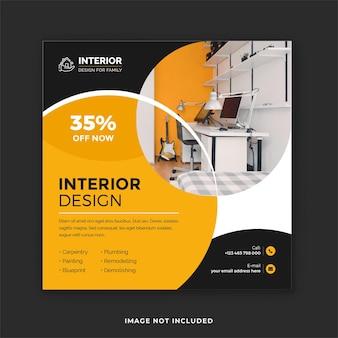 Servizio di interior design post sui social media e post design su instagram immobiliare