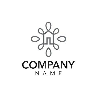 Illustrazione dell'icona di logo vettoriale di interior design