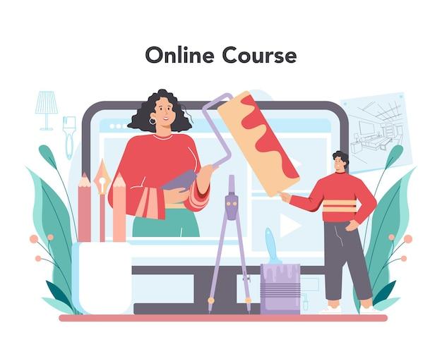 Servizio o piattaforma online di designer di interni