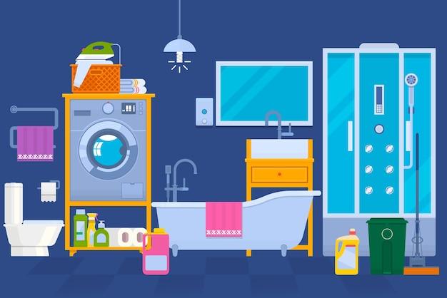 Interno di una lavanderia
