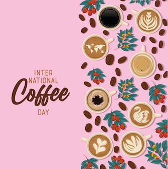 Poster della giornata internazionale del caffè