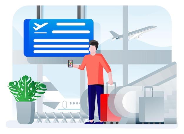 Concetto di aeroporto internazionale