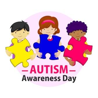 Puzzle della giornata internazionale della consapevolezza sull'autismo