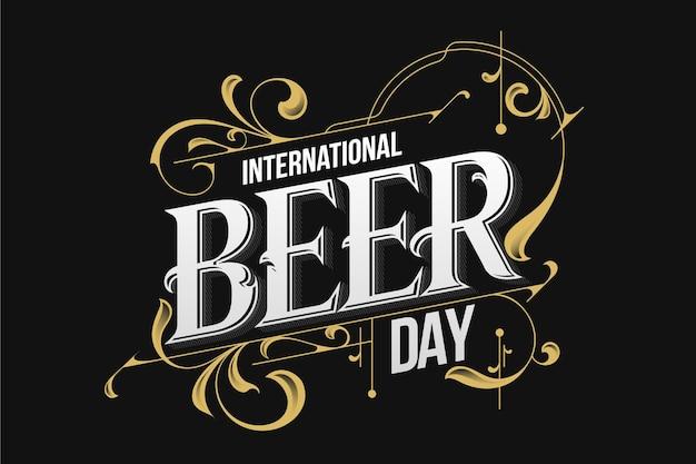 Tipografia vintage della giornata internazionale della birra