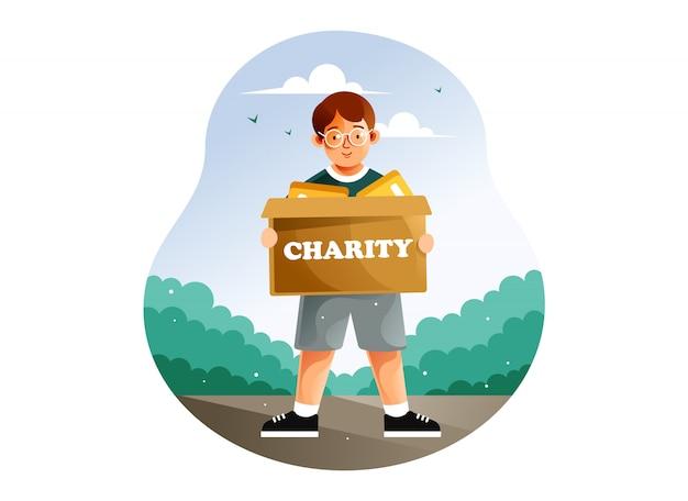 Illustrazione di concetto di giornata internazionale di beneficenza