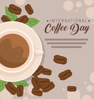 Design per la giornata internazionale del caffè
