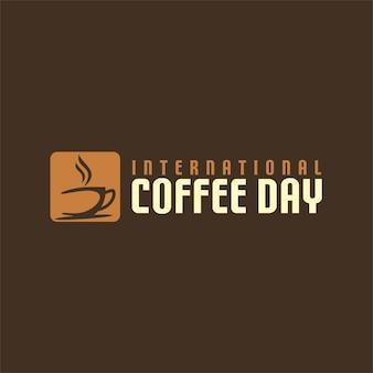 Logo della giornata internazionale del caffè
