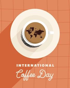 Cartolina della giornata internazionale del caffè