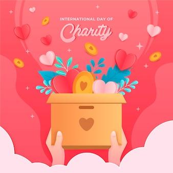 Giornata internazionale della carità sullo sfondo del design