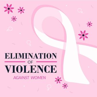 Giornata internazionale per l'eliminazione della violenza contro le donne nastro di sensibilizzazione
