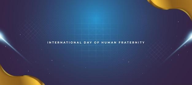 Banner commemorativo della giornata internazionale della fratellanza umana