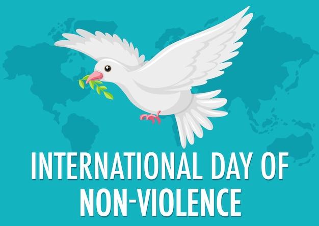 Icona di giornata internazionale della non violenza
