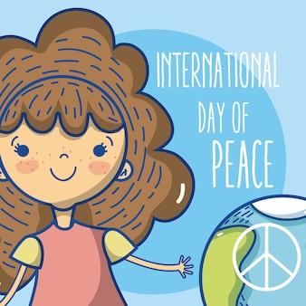Giornata internazionale della pace con cartone animato per bambini