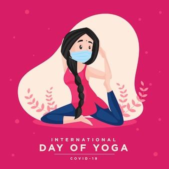Giornata internazionale del design di banner yoga