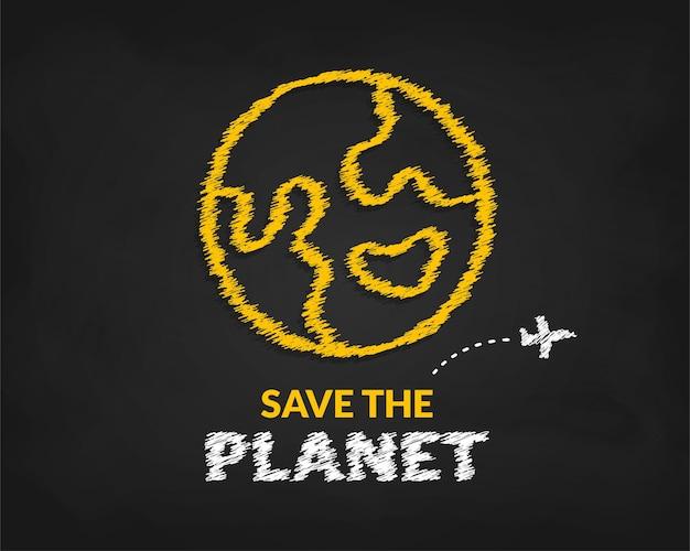 Sfondo della giornata internazionale della terra, concetto di salvataggio del pianeta terra, protezione dell'ambiente ecologico