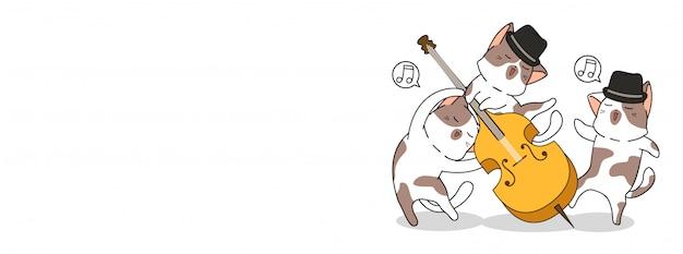 Giornata internazionale del jazz con i gatti kawaii