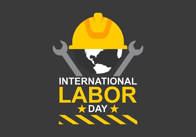 Vettore di logo di festa del lavoro internazionale