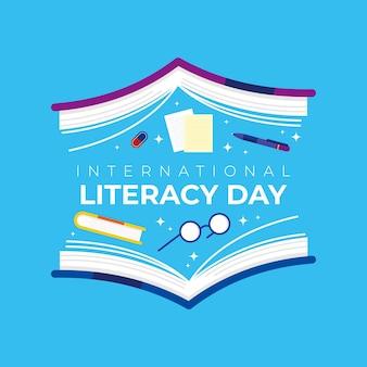 Il vettore della giornata internazionale dell'alfabetizzazione può essere utilizzato per citazioni, poster, banner, sfondi, social media