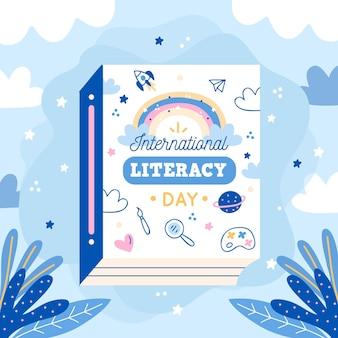 Giornata internazionale dell'alfabetizzazione con libro