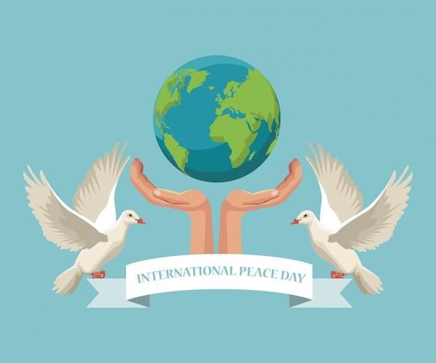 Sfondo della giornata internazionale della pace