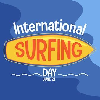 Banner della giornata internazionale del surf