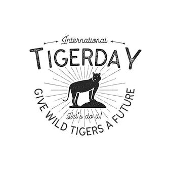 Emblema della giornata internazionale della tigre