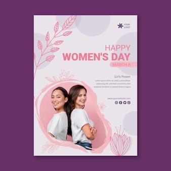 Giornata internazionale della donna a5 Vettore Premium