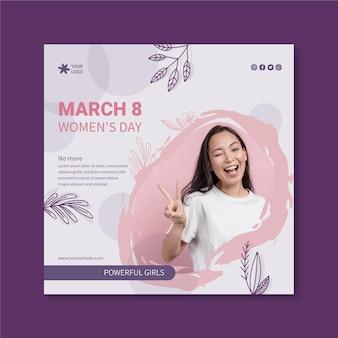 Volantino per la giornata internazionale delle donne Vettore Premium