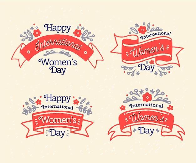 Etichette della giornata internazionale della donna