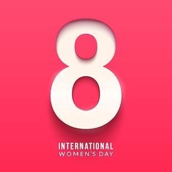 Giornata internazionale della donna. 8 numero 3d'illustrazione.