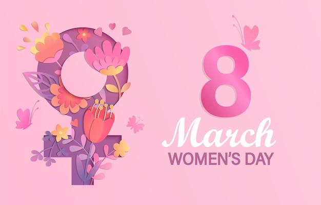 Banner della giornata internazionale della donna