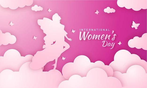 Concetto di celebrazioni della giornata internazionale della donna.