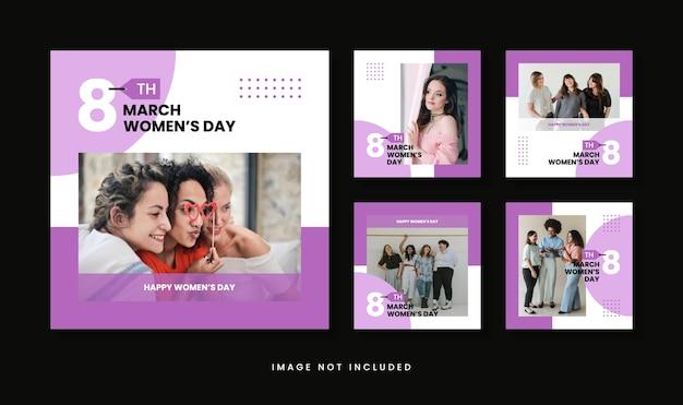 Modello di post instagram per la giornata internazionale della donna