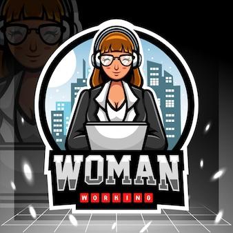 Mascotte della giornata internazionale della donna. design del logo esport.
