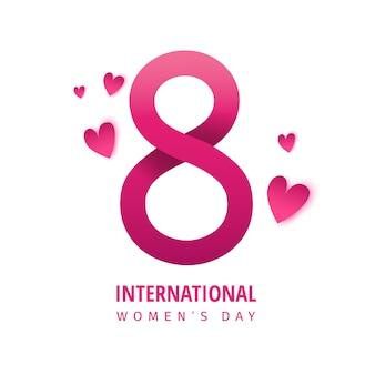 Vendita internazionale della donna. banner di primavera luminosa. Vettore Premium