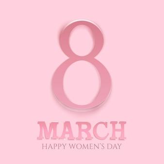 Sfondo della giornata internazionale della donna. modello di biglietto di auguri.