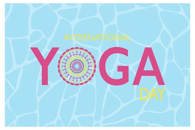 Banner della giornata internazionale dello yoga
