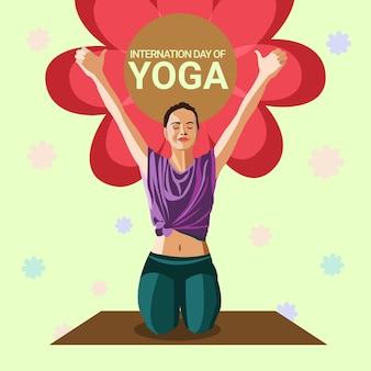 Sfondo di celebrazione della giornata internazionale dello yoga