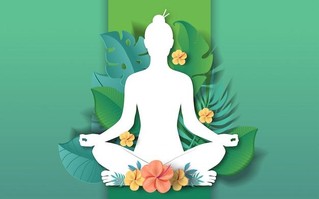 Illustrazione di giornata internazionale dello yoga