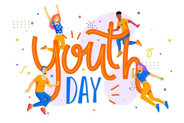 Illustrazione della giornata internazionale della gioventù