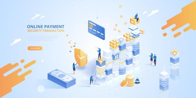 Banca online. transazione di sicurezza dei pagamenti online. è